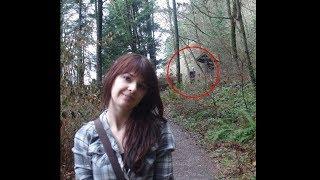 На фото нашли настоящего слендермена в лесу... (ПOMOГИТE)