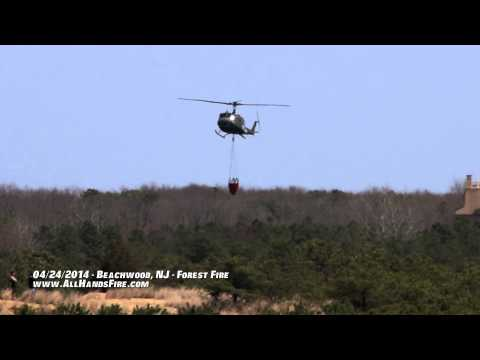 Beachwood Ocean County NJ Forest Fire Air Attack Operations
