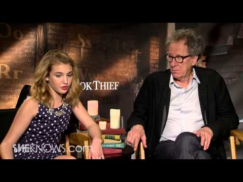 The Book Thief's Geoffrey Rush and Sophie Nélisse - Celebrity Interview