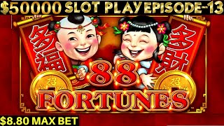 88 Fortunes Slot Machine Max Bet Bonus & BIG WIN | SEASON 6 | EPISODE #13