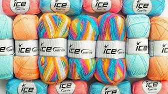 Review of Ice Yarns - Unboxing Yarn Reviews by Donna Wolfe from Naztazia