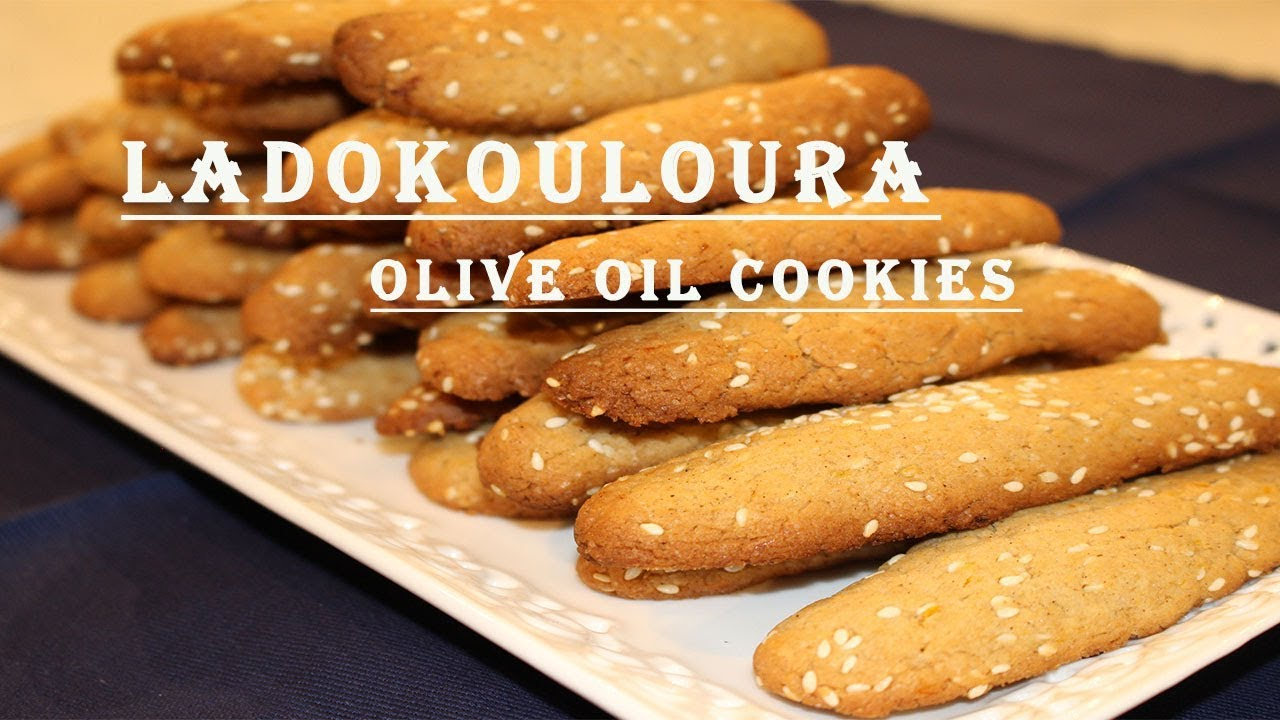 Olive Oil Cookies Greek Ladokouloura Vegan Youtube
