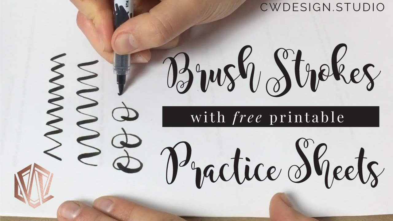 image relating to Printable Hand Lettering Practice Sheets titled Working day 1: Hand Lettering Simple Strokes with Coach Sheets