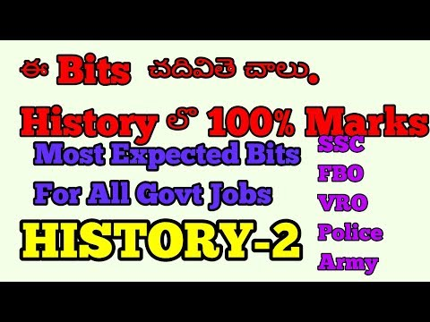 Indian History bits in telugu/ history telugu/ History  most expected bits in telugu