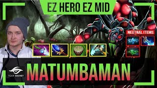 MATUMBAMAN - Broodmother MID | EZ HERO EZ MID with Ramzes (Enigma) | Dota 2 Pro MMR Gameplay #7