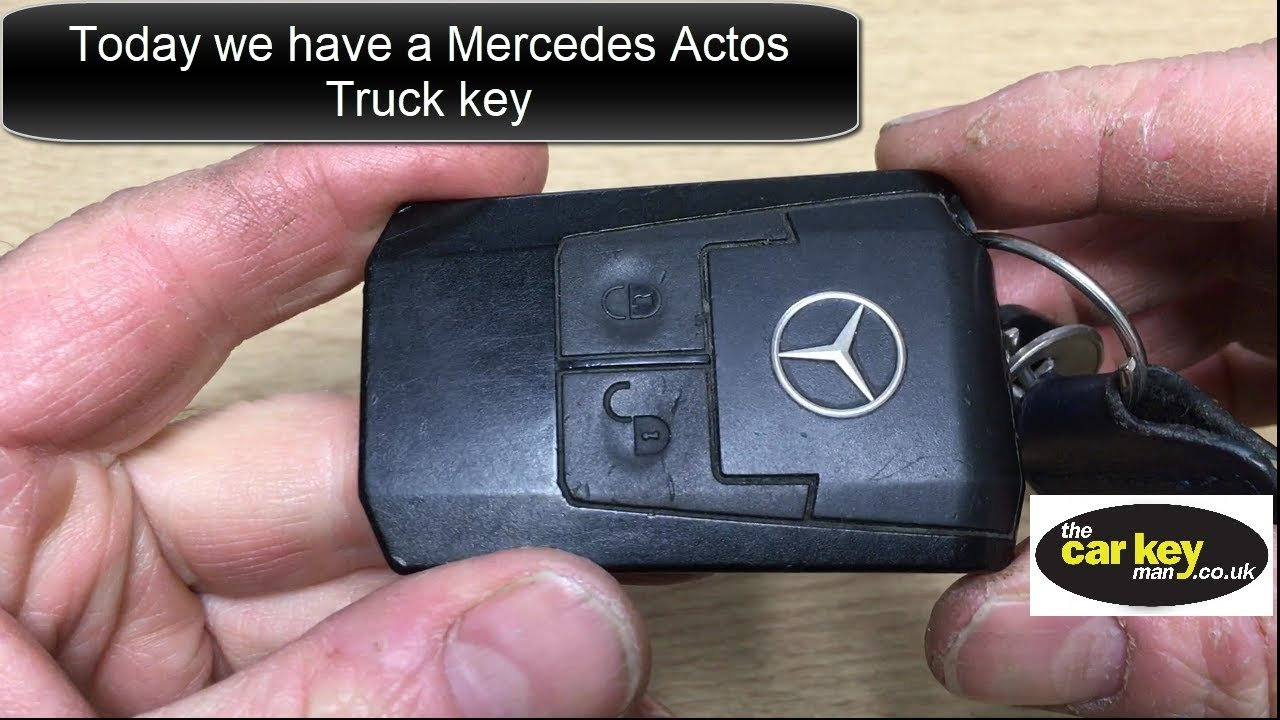 Key battery mercedes actos how to change youtube for Mercedes benz key battery