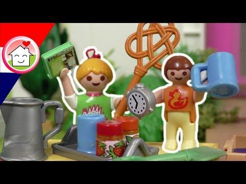 playmobil filmpje nederlands rommelmarkt met anna en lena huizer