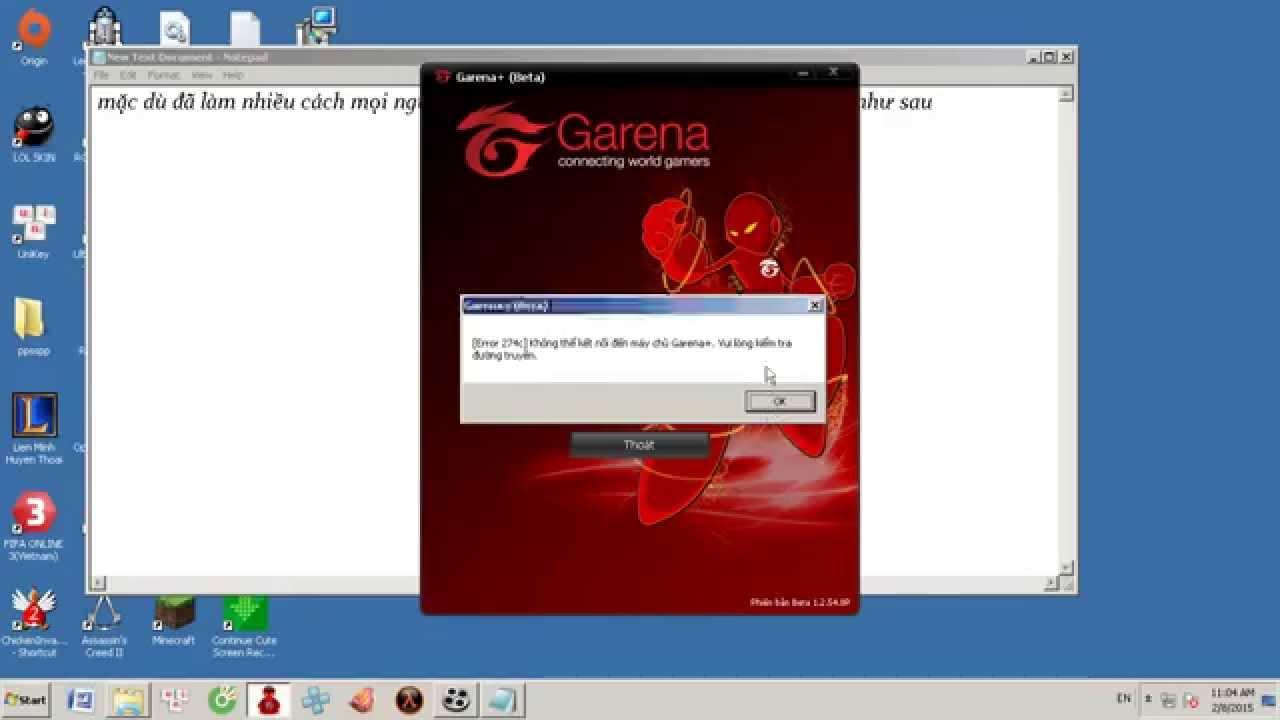 Không đăng nhập được Garena do lỗi 247c - YouTube