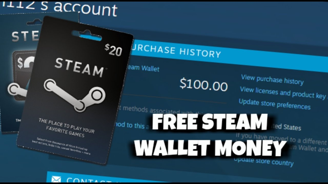 STEAM WALLET HACK - How to Get Free Steam Wallet Money and Codes ...