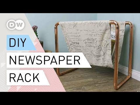 DIY - How to make a newspaper rack
