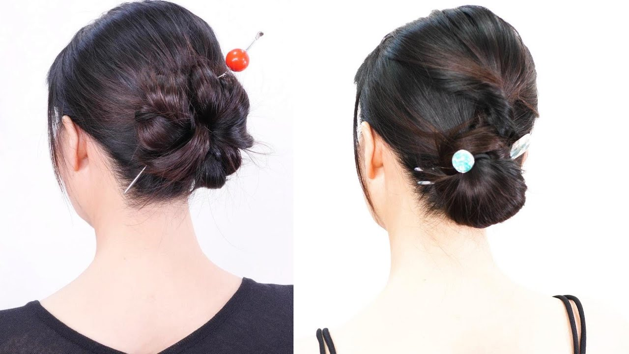 2 Easy Hairstyles//Self bun up hairstyle//Chie