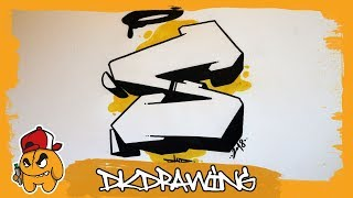 Graffiti Alphabet Tutorial - How to draw graffiti letters - Letter S