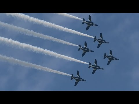 【2019 小松基地航空祭】ブルーインパルスが6機編成で完全復活を果たす アクロバット飛行 / JASDF KOMATSU AIR SHOW 2019.9.16