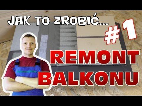 Remont Balkonu 1 Hydroizolacja Okapnik I Układanie Płytek