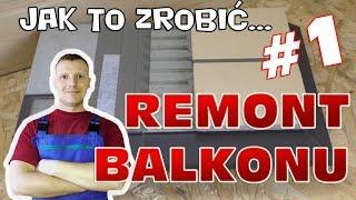 Remont balkonu #1- hydroizolacja, okapnik i układanie płytek