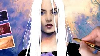 【Watercolor Portrait】White Night
