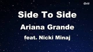 Side To Side - Ariana Grande Feat. Nicki Minaj Karaoke 【With Guide Melody】 Instrumental