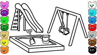 Playground Coloring Pages for Kids