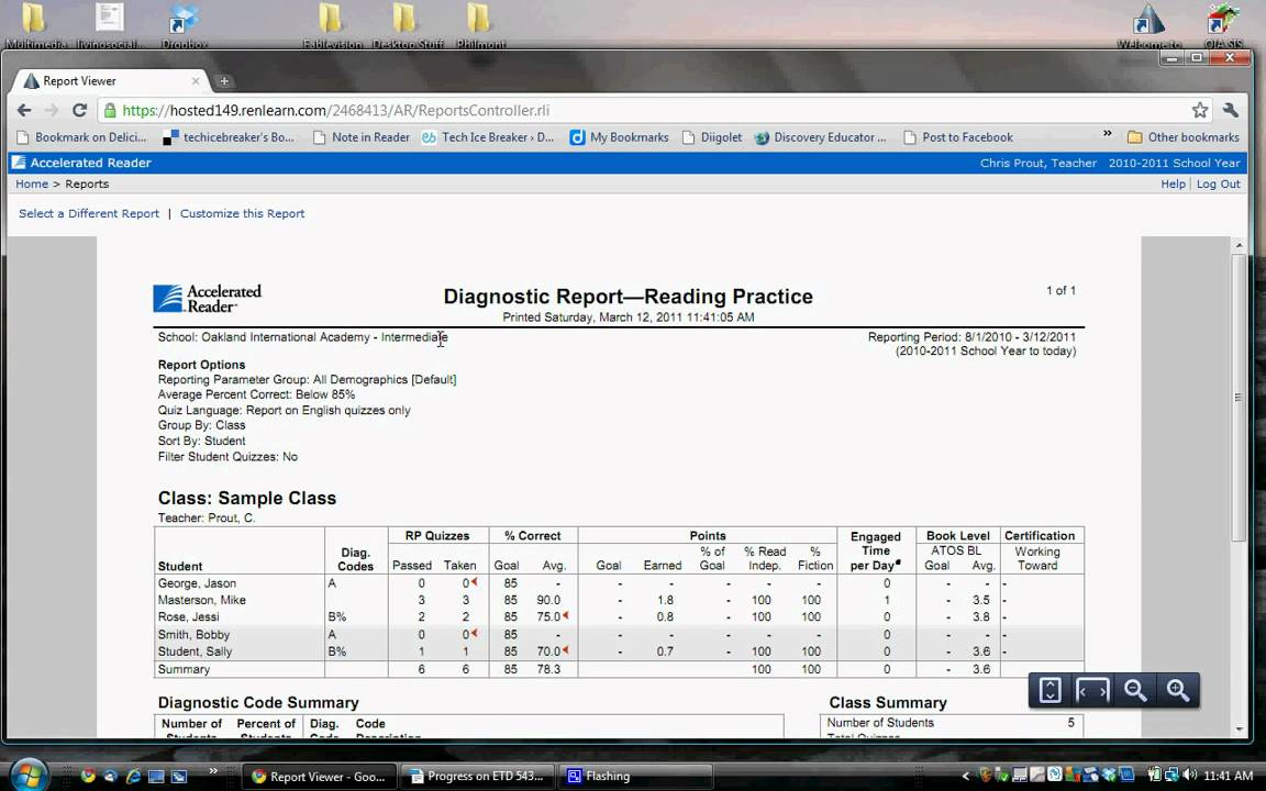 Accelerated reader class diagnostic report youtube accelerated reader class diagnostic report xflitez Gallery