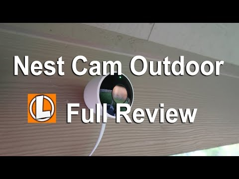 nest-outdoor-security-camera-review---unboxing,-setup,-settings,installation,-footage,-alexa