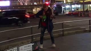 2018.2.13 バイオリニストSHOGOさんストリートライブ in 博多西銀前 VOG...