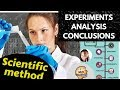 Scientific method experiments, analysis and conclusions - Building knowledge