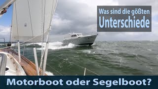 Motorboot vs Segelboot