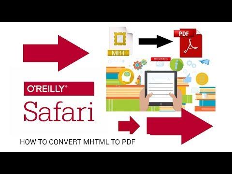 How To Convert Safari Ebooks To PDF
