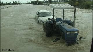 Flooding West Coast South Island New Zealand