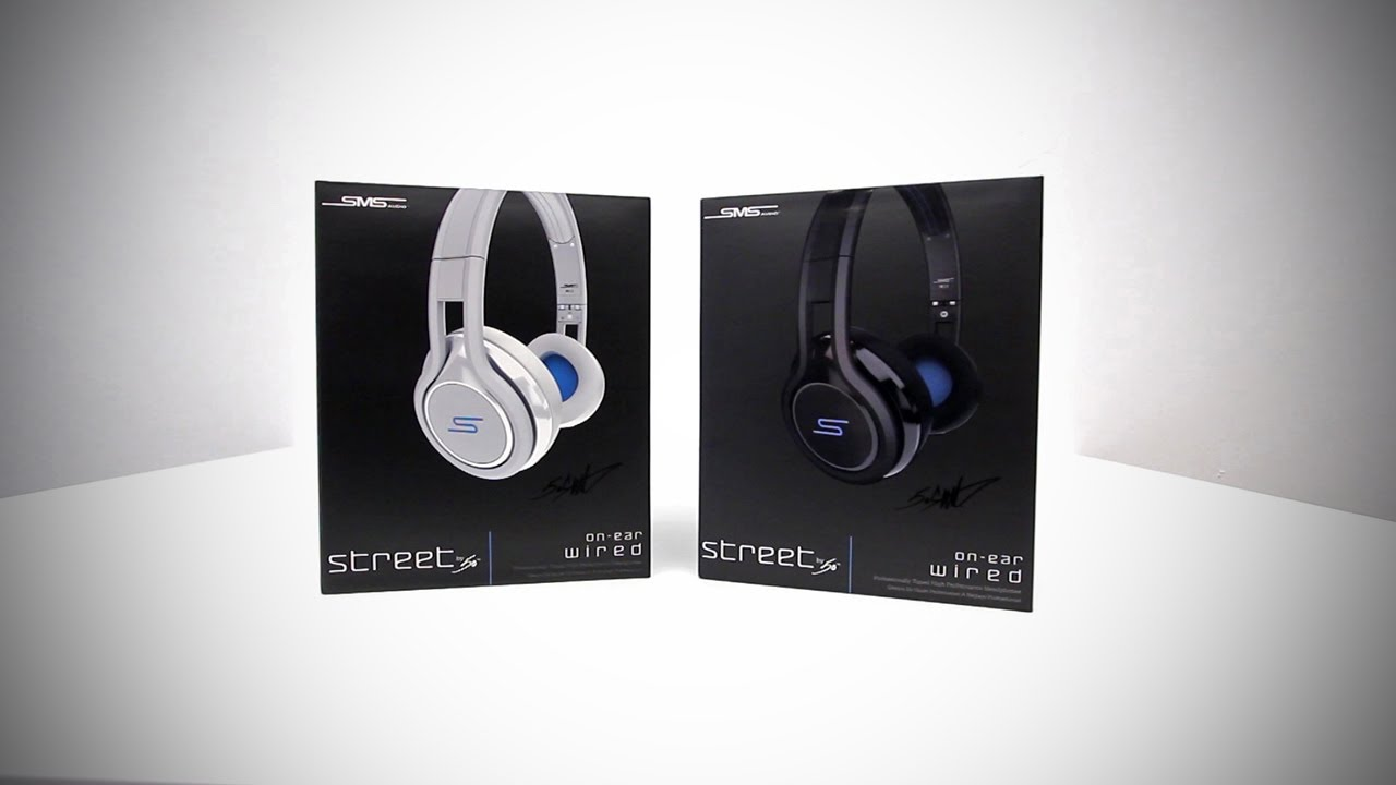 SMS Audio STREET by 50 - On-Ear Wired Headphones Unboxing & Overview ...