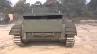 Cromwell tank neutral turns after the military revival 2013
