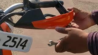 Installing Hand Guards On KTM DUKE 200 2017