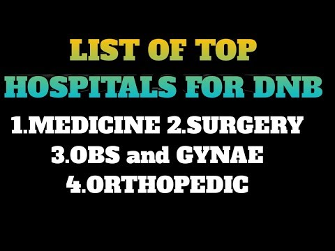 List Of Top Hospital For DNB Medicine, Surgery, OBS And Orthopedics In India