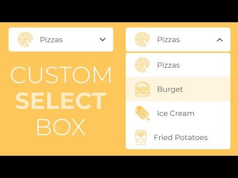 How To Create The Custom Select Box Using HTML CSS And Jquery -- Custom Dropdown Box