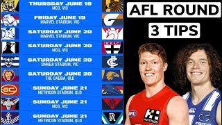 2020 AFL ROUND 3 Tips