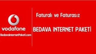 BEDAVA VODAFONE İNTERNET HAZİRAN 2017 Guncel