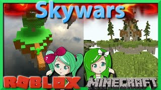 NEW SERIES Minecraft vs. Roblox | Skywars | Comparing Rocraft and Mineblox | SallyGreenGamer