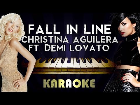 Christina Aguilera - Fall In Line (feat. Demi Lovato) | Piano Karaoke Instrumental Lyrics Cover