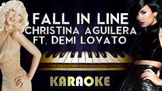 Christina Aguilera - Fall in Line (feat. Demi Lovato) | Piano Karaoke Instrumental Lyrics Cover Video
