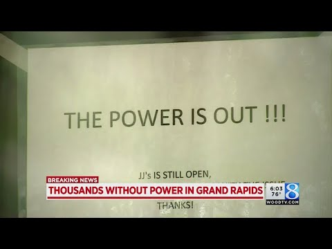 Thousands lose power in Grand Rapids