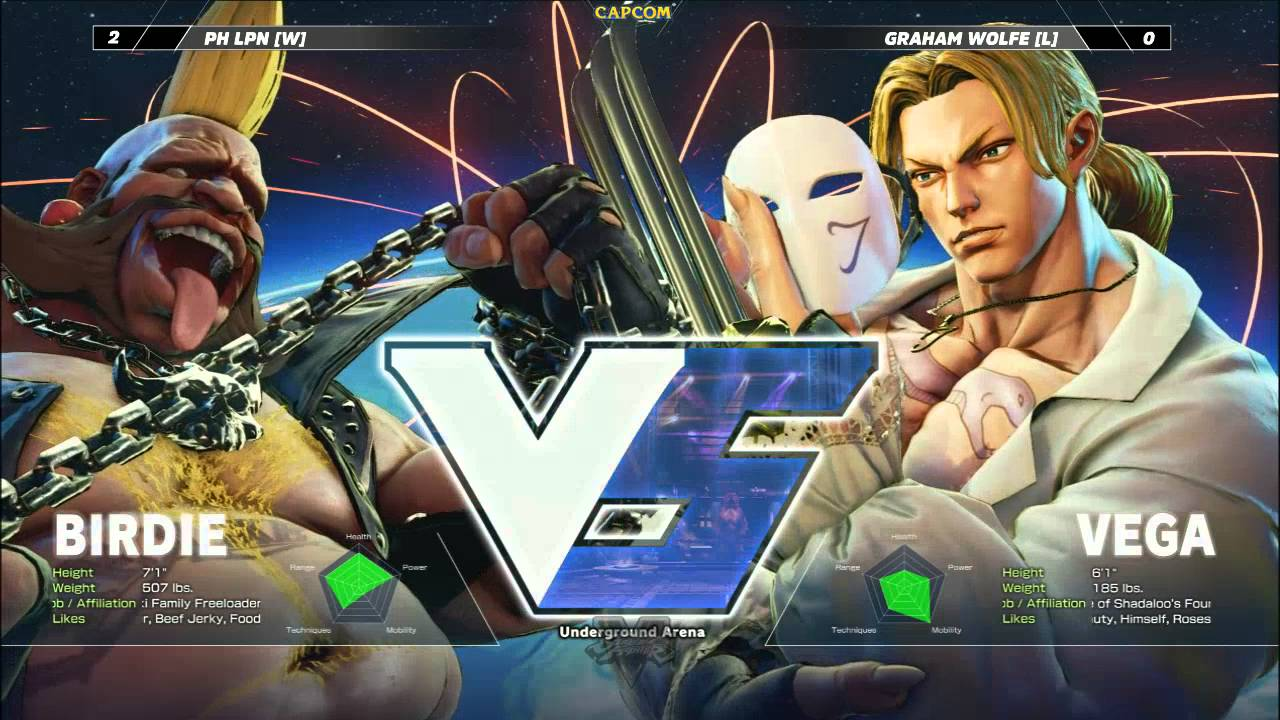 Street Fighter V: Churning The Butter 62 - Grand Final - PH LPN (Birdie) vs Graham Wolfe (Vega)