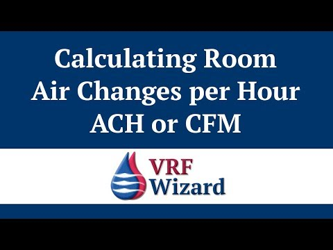 How To Calculate Air Changes Per Hour