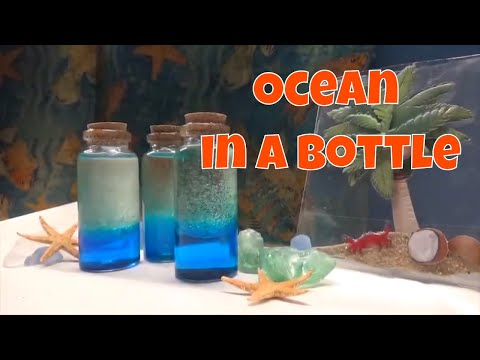 How to create an ocean in a bottle - quick and easy craft