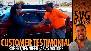 Jennifer Henderson satisfied with her Chrysler 300C purchase - Customer Testimonial - SVG Motors
