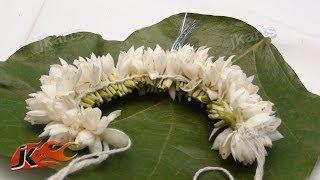 DIY Gajra / Veni / Flower Garland for Indian Wedding | How to make | JK Arts  141