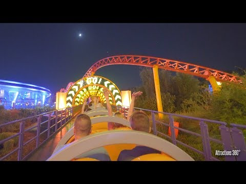Slinky Dog Coaster Night POV - Disney World