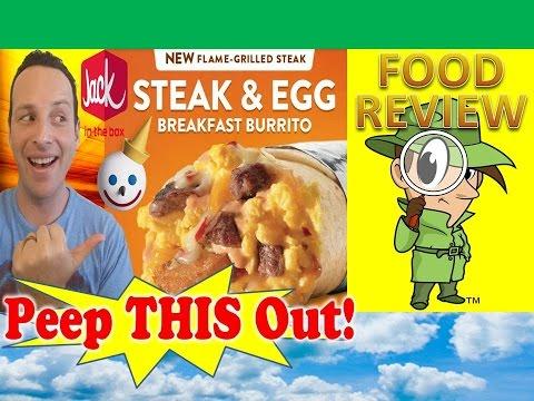 Jack In The Box® | Sriracha Steak & Egg Breakfast Burrito Review! Peep THIS Out!
