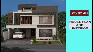 25*40 House Plan with detail || 3BHK house|| House interior design Ideas