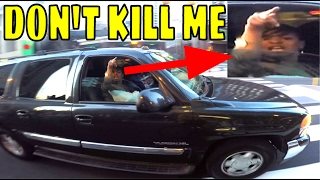 """RUN THEM ALL OVER!!"" SUV VS BMX BIKES!!"
