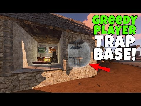 RUST | CATCHING GREEDY PLAYERS with an OPEN LOOT ROOM TRAP BASE ! thumbnail